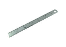 Metal ruler isolated on white background Stock Image