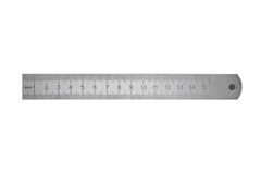 Metal ruler isolated on white background Royalty Free Stock Photos