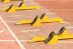 Metal running equipment Royalty Free Stock Photo