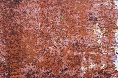 Metal Rust Background Metal Rust Texture. Beautiful unusual background. Rusted white painted metal wall. stock photography