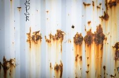 Metal rust of container shipping background Royalty Free Stock Images