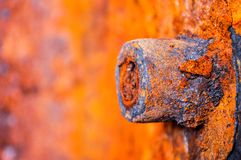 Metal, rust, corrosion, barrel, container. Photo capacity weighing 5 tons, stood 10 years on the street and was corroded by the rain. The photo was taken in Stock Image
