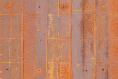 Metal rust plate wall texture Royalty Free Stock Photos