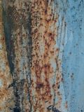 Metal rust texture with paint splashes, abstract grunge background Royalty Free Stock Photos