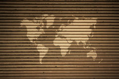 Metal rust wall texture surface vintage style with world map Royalty Free Stock Image
