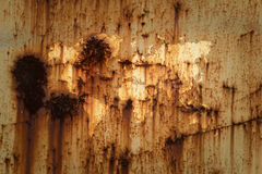 Metal rust wall texture surface with world map Stock Images