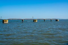 Metal rusted structure pier Royalty Free Stock Photos
