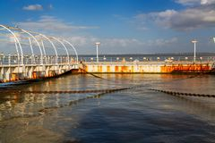 Metal rusted structure pier Stock Photography