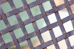 Metal rustic Lattice in an outdoor setting Royalty Free Stock Photo