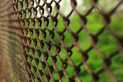 Metal rusty fence Royalty Free Stock Photography
