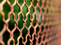 Metal Rusty Fence net. Metal Rusty Fence  or net Royalty Free Stock Image
