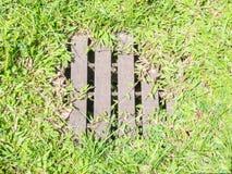 Metal rusty manhole Royalty Free Stock Photography