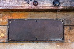 Metal Rusty Plate Royalty Free Stock Photography