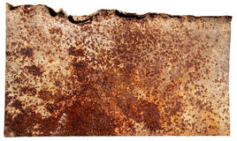 Metal rusty plate Royalty Free Stock Images