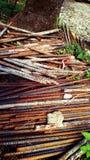 Metal. Rusty rebar stakes Royalty Free Stock Photo