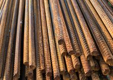Metal rusty reinforcement bars Royalty Free Stock Photos