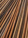 Metal rusty reinforcement bars Stock Images