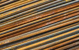 Metal rusty reinforcement bars Royalty Free Stock Images