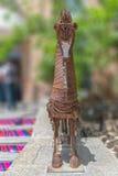 Metal rzeźby koński vertical Obrazy Royalty Free