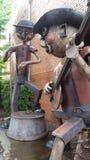 Metal rzeźba Waynesville, NC Fotografia Royalty Free