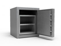 Metal safe. 3d render metal safe ( on white and clipping path Royalty Free Stock Photo