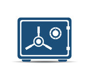 Metal safe box vector icon Royalty Free Stock Photos