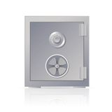 Metal safe. Vector image of a big metal realistic safe Royalty Free Stock Photo