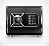 Metal safe  on white Royalty Free Stock Photos