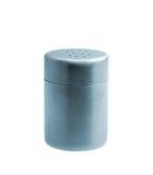 Metal salt shaker isolated on white background Royalty Free Stock Photos