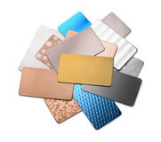 Metal samples Stock Photo