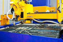 Metal sand cutter Stock Photography