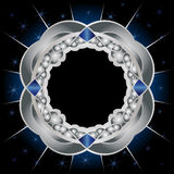 Metal and sapphires framework Royalty Free Stock Image