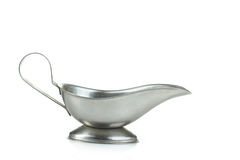 Metal sauce boat Royalty Free Stock Image