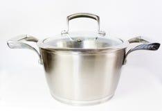 Metal saucepan Royalty Free Stock Photos