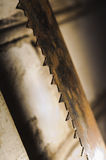 Metal saw blade. Abctract photo. work tools Royalty Free Stock Images