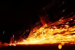 Metal sawing Royalty Free Stock Images