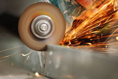 Metal sawing Stock Photos