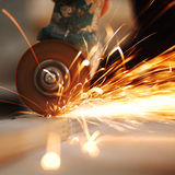 Metal sawing Royalty Free Stock Images