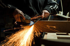Metal sawing Royalty Free Stock Photos