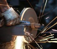 Metal sawing Stock Image