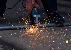metal sawing Stock Photos