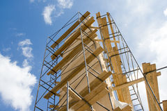 Metal scaffold against blue sky Royalty Free Stock Images