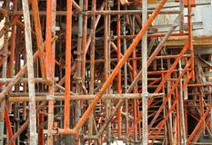 Metal scaffolding Royalty Free Stock Images
