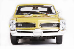 Metal scale toy car front Royalty Free Stock Photos