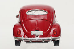 Metal scale toy model old VW Beatle 1955 backview Stock Photo