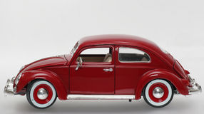 Metal scale toy model old VW Beatle 1955 sideview Stock Images