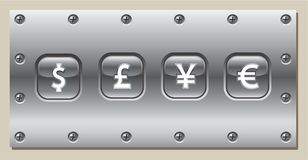 Metal Schild Lizenzfreie Stockbilder