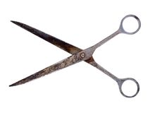 Metal scissors Royalty Free Stock Image