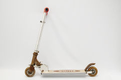 Metal scooter for child Royalty Free Stock Images