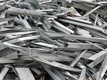 Metal scrap stock image